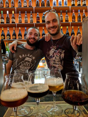 Look for Gabriele (left) and Dario when you visit Open Baladin Roma